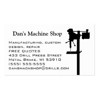 Cartão de visita da oficina de construção mecânica