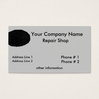 Cartão de visita da oficina de reparações da
