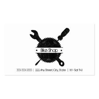 Cartão de visita da oficina de reparações da bicic