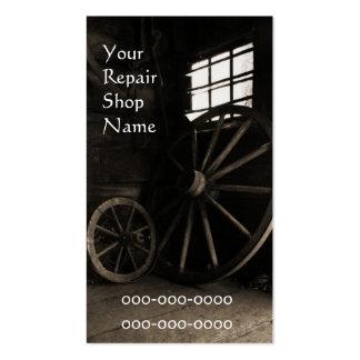 cartão de visita da oficina de reparações do equip