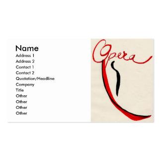 Cartão de visita da ópera, cor