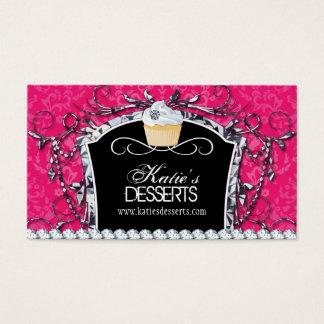 Cartão de visita da padaria do cupcake da diva do