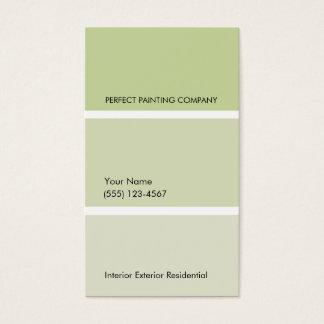 Cartão de visita da pintura do pintor