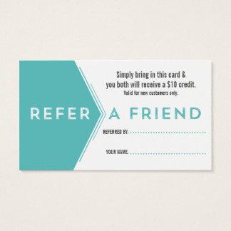 Cartão de visita da referência do dentista