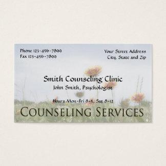 Cartão de visita da saúde mental do psicólogo do