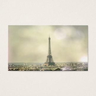 Cartão de visita da torre Eiffel