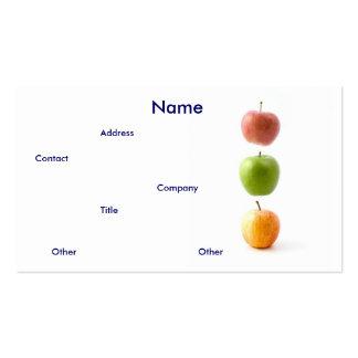 Cartão de visita das maçãs
