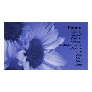 Cartão de visita das margaridas azuis