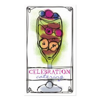 Cartão de visita das sobremesas da restauração da