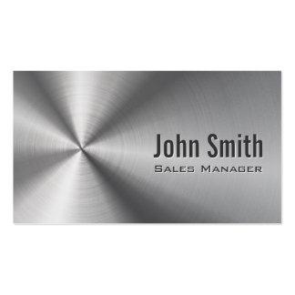Cartão de visita de aço inoxidável do gerente de v