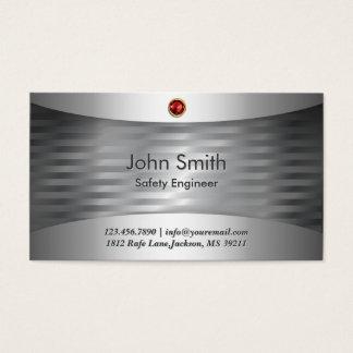 Cartão de visita de aço luxuoso do engenheiro de