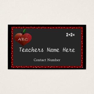 Cartão de visita de Apple do coração dos