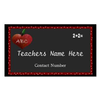 Cartão de visita de Apple do coração dos professor