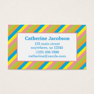 Cartão de visita de chamada das listras dos doces