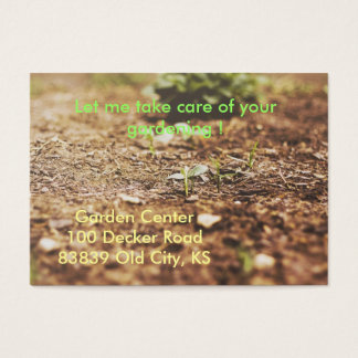 Cartão de visita de jardinagem