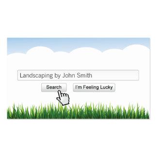 Cartão de visita de jardinagem & ajardinando moder