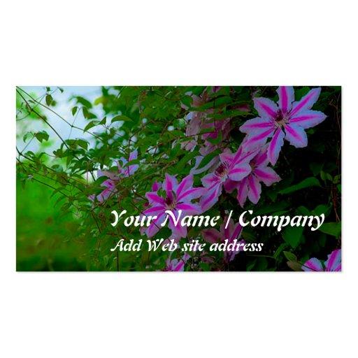 Cartão de visita de jardinagem (Clematis)