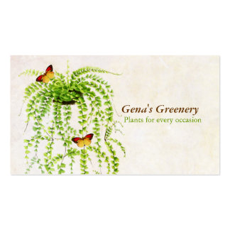 Cartão de visita de jardinagem da samambaia do