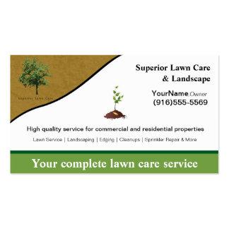 Cartão de visita de jardinagem do logotipo do Land