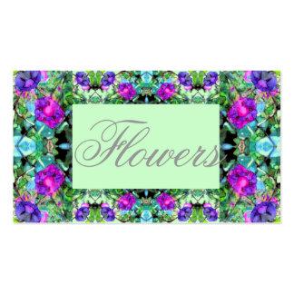 Cartão de visita de jardinagem florido 5 das