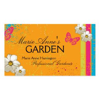 Cartão de visita de jardinagem moderno