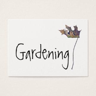 Cartão de visita de jardinagem poderoso da folha