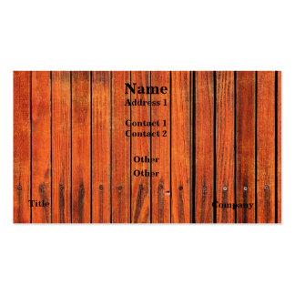 Cartão de visita de madeira da imagem da cerca