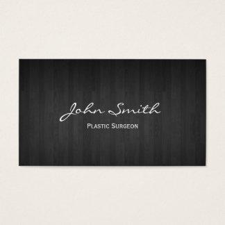 Cartão de visita de madeira escuro elegante do