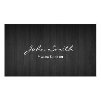 Cartão de visita de madeira escuro elegante do cir