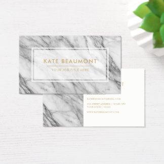 Cartão de visita de mármore moderno