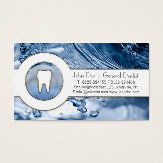 Cartão de visita dental do dentista legal dos