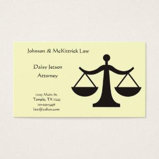 Cartão de visita do advogado