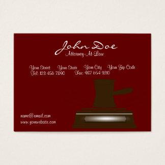 Cartão de visita do advogado/advogado