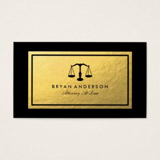 Cartão de visita do advogado do advogado