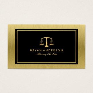 Cartão de visita do advogado do advogado do ouro