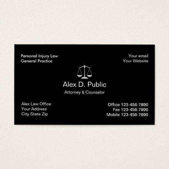 Cartão de visita do advogado dos ferimentos