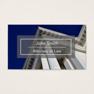 Cartão de visita do advogado ou do advogado com