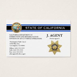Cartão de visita do agente de palavra de honra -