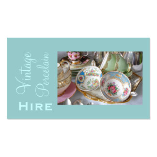Cartão de visita do aluguer da porcelana do vintag