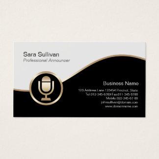 Cartão de visita do anunciador do ícone do