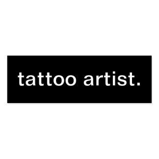 Cartão de visita do artista do tatuagem