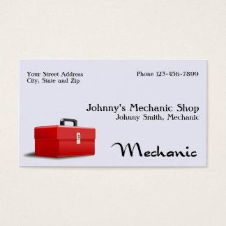 Cartão de visita do auto mecânico
