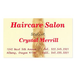 Cartão de visita do cabeleireiro do cabeleireiro