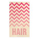 Cartão de visita do cabeleireiro - Ombre cor-de-ro