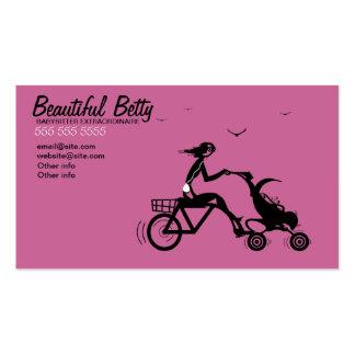 Cartão de visita do carrinho de criança de bebê da