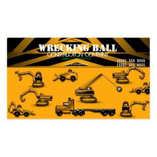 Cartão de visita do construtor da construção