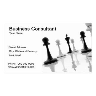 Cartão de visita do consultante da estratégia empr