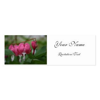 Cartão de visita do coração de sangramento