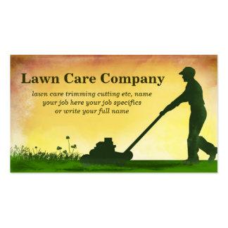 cartão de visita do corte da grama do cuidado do