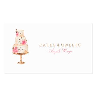 Cartão de visita do costume dos bolos & dos doces